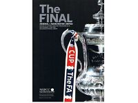 2005 FA Cup Final programme Man Utd vs Arsenal in mint condition