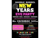NEW YEARS EVE PARTY - DOUBLE BARREL - MOTOWN + REGGAE + SOUL – CITY CENTRE - HAWAIIAN BAR