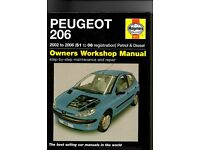 Haynes PEUGEOT 206 (2002 to 2006) 51 to 06 registration Petrol & Diesel Owners Workshop Manual