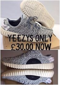 YEEZY ADIDAS WHITE TRAINERS ONLY £30.00