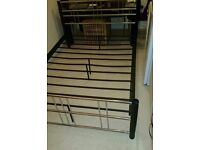 Black and chrome double bed frame, great condition. Bristol, Cribbs Causeway