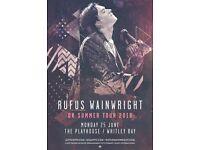 Rufus Wainwright tickets x 2, Whitley Bay playhouse, Monday 25th June