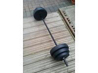 Weights and bar (30kg)