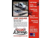 Man with Van, Light Haulage, Warehousing Storage, Car Collection Delivery, Vehicle Recovery
