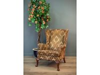 Attractive Vintage Parker Knoll Wingback Armchair Easy Chair