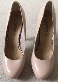 Newlook Nude Colour Heels Size 8, Only Worn Once