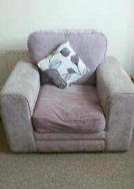 Free lilac arm chair
