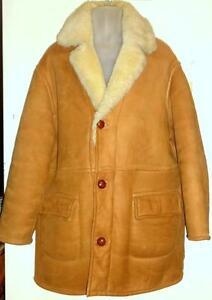 MENS XL SHEARLING COAT / 100% SHEEPSKIN JACKET 46 48 REG // stocky cost 2000 bucks