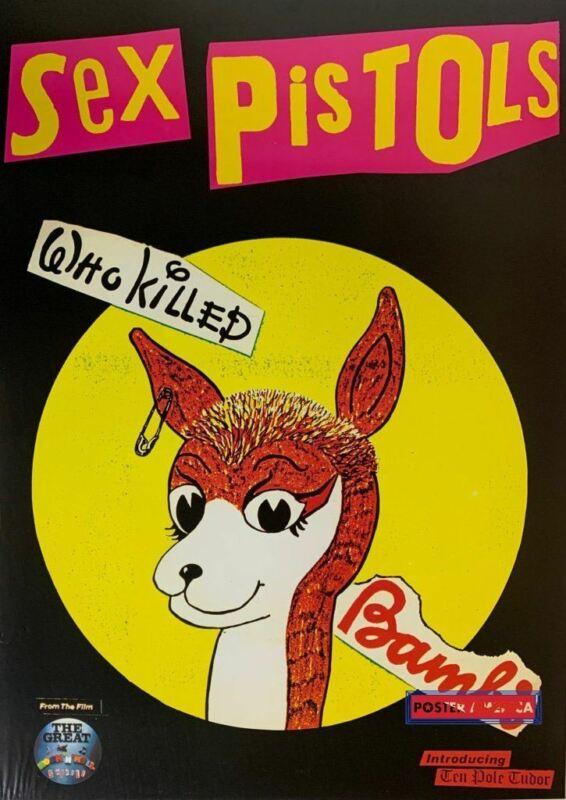 Sex Pistols Who Killed Bambi Rare Promo Poster 23.5 x 32.5
