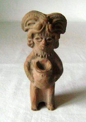 South American Terracotta Statue : Votive Figure : Aztec / Maya
