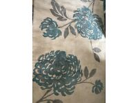 £59 (160 x 230) Cream and Teal Floral Rug for sale