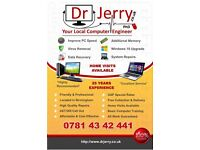 Dr Jerry PhD Computer Engineer - Laptop Computer Repair