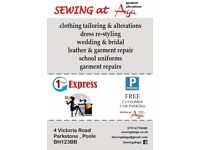 clothing tailoring & alterations,dress re-styling wedding & bridal leather & garment repair,