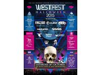 Westfest 2016 ticket. Can no longer be bothered to go as it's far from me so I'm selling my ticket