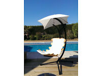 BANK HOLIDAY SALE! Hanging chair wooden(hammock chair) with Stand for garden patio conservatory