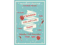 Much Birch School Christmas Fayre with gifts, crafts, festive food, games and Santa's grotto