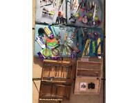 Fishing Job Lot Mixed Bundle Inc Bag & Boxes