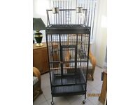 large silver & black parrot cage brand new