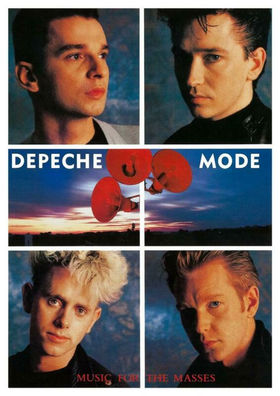 Depeche Mode - POSTER - Music For the Masses promo ad - MUST SEE IMAGE