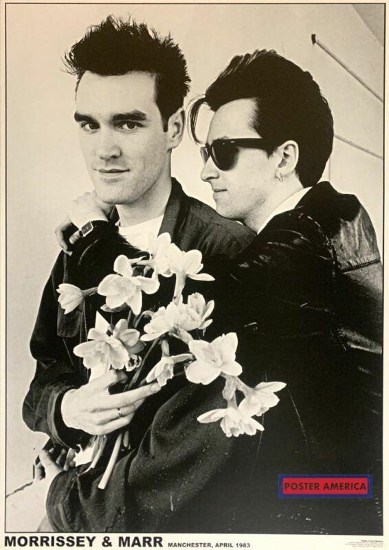 Morrissey & Marr Manchester 1983 Black & White Poster 23.5 x 33
