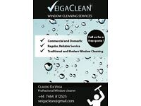VeigaClean-Window Cleaning services available in Hackney,Haringey & Islington, London