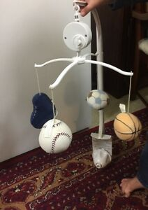 Sports Themed Baby Musical Mobile