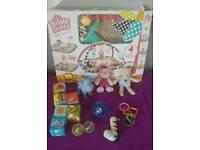 Toys Mat Gym Rings Cubes Balls Rattles toys bundle