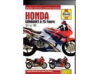 Haynes Honda CBR 600 F2 & F3 Fours (91 to 98) Service & Repair Manual