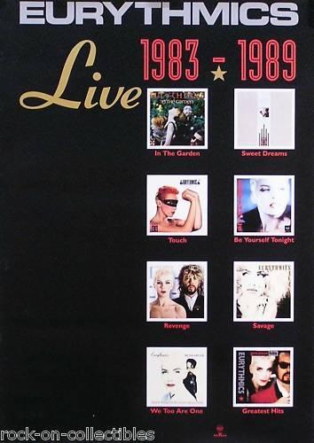 Eurythmics 1983-1989 Live Original Album Collection Promo Poster