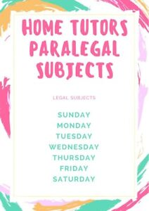 Home tuition? Tutors Available - Paralegal Subject  and Ms Word