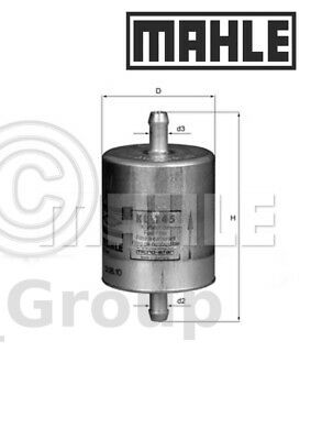 Genuine MAHLE Replacement Engine In-Line Fuel Filter KL 145