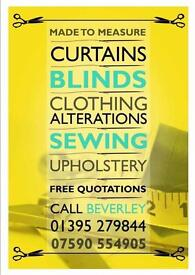 Made to Measure Curtains, Blinds, Clothing, Alterations, Sewing & Upholstery.
