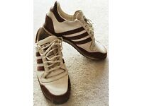 GENUINE SUPERB ADIDAS LEATHER AND SUEDE TRAINERS SNEAKERS SHOES SIZE UK 6 SIX COOL CASUAL VGC