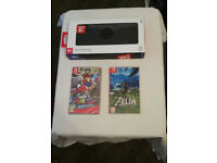 Nintendo Switch console with 2 Games and case!