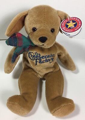 The Cheesecake Factory Puppy Dog 10  Beanbag Plush Herrington Teddy Bears W Tag