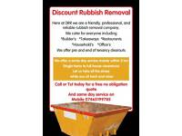 Man and Van. Rubbish Removal. Skip Hire we do it all so you dont have 2 dont delay call today