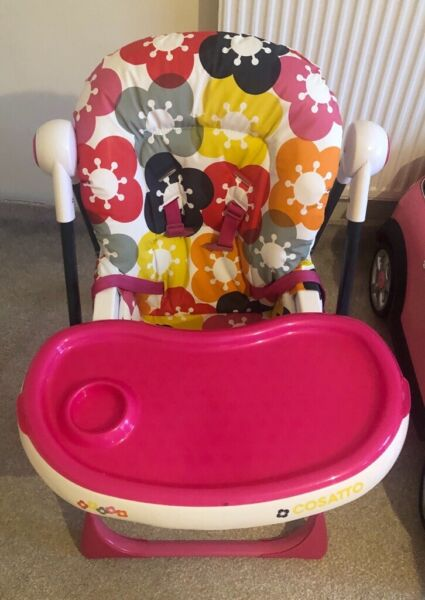Cosatto Noodle Supa Poppidelic high chair for sale  Northolt, West London