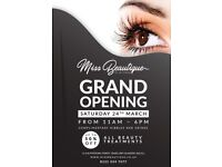 Beauty Salon - Grand Opening, Saturday 24th March 2018 (11am - 6pm)