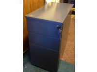 office pedestal 3 filing cabinet drawer metal dark grey