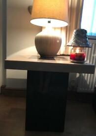 Solid marble DFS lamp Table