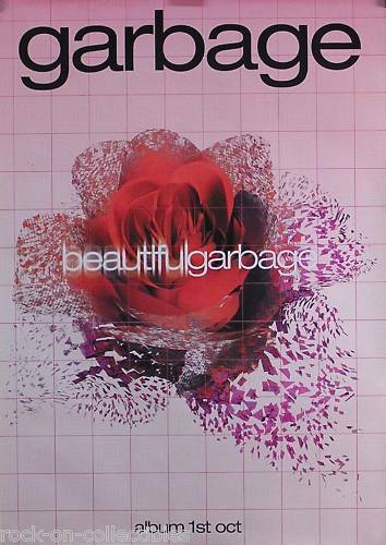 Garbage 2001 Beautiful Garbage Original UK Promo Poster