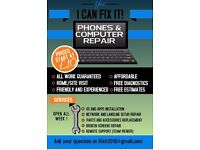 Phone, iPhone, Laptop, Tablet, PC, Network, Peripherals repair, installation, upgrade, CCTV
