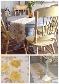 painted in Annie Sloane Flint grey and soft mustard