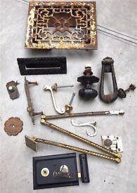 Assorted door knockers, locks, knobs etc