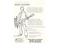 Bass Teacher available in Bristol city centre - Free 30min try - all lvl welcomed