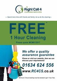 1 hour free cleaning*- quality assured house cleaning services