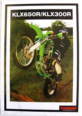 KAWASAKI KLX650R/KLX300R - Motorcycle Sales Spec Sheet - 2007