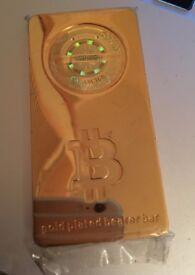 Casascius Bitcoin Gold Bearer Bar (Originally Unloaded) 1 BTC 1 BCC 1 BTG