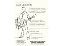 Bass Lessons starts 25£/h, FREE 30min TRIAL, all lvls welcomed, preferential rates available