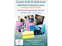 Half-Term French Intensive Workshop for GCSE & A Level
